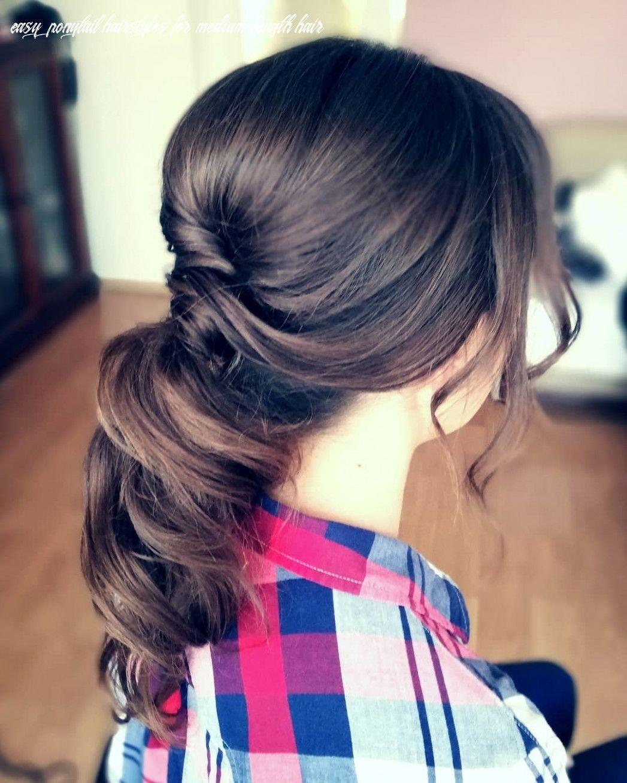Easy Ponytail Hairstyles For Medium Length Hair