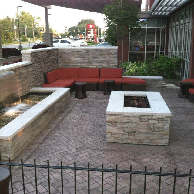 I Love The Fire Pit And Water Wall Backyard Options