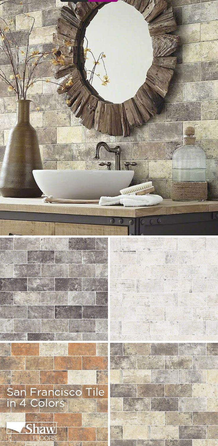 A beautiful brick visual san francisco porcelain tile from shaw shaws san francisco presidio tile and stone for flooring and wall projects from backsplashes to fireplaces wide variety of tile flooring and wall tile dailygadgetfo Image collections