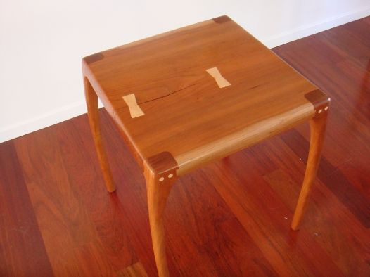 Maloof joints on a cherry side table talkfestool woodworking