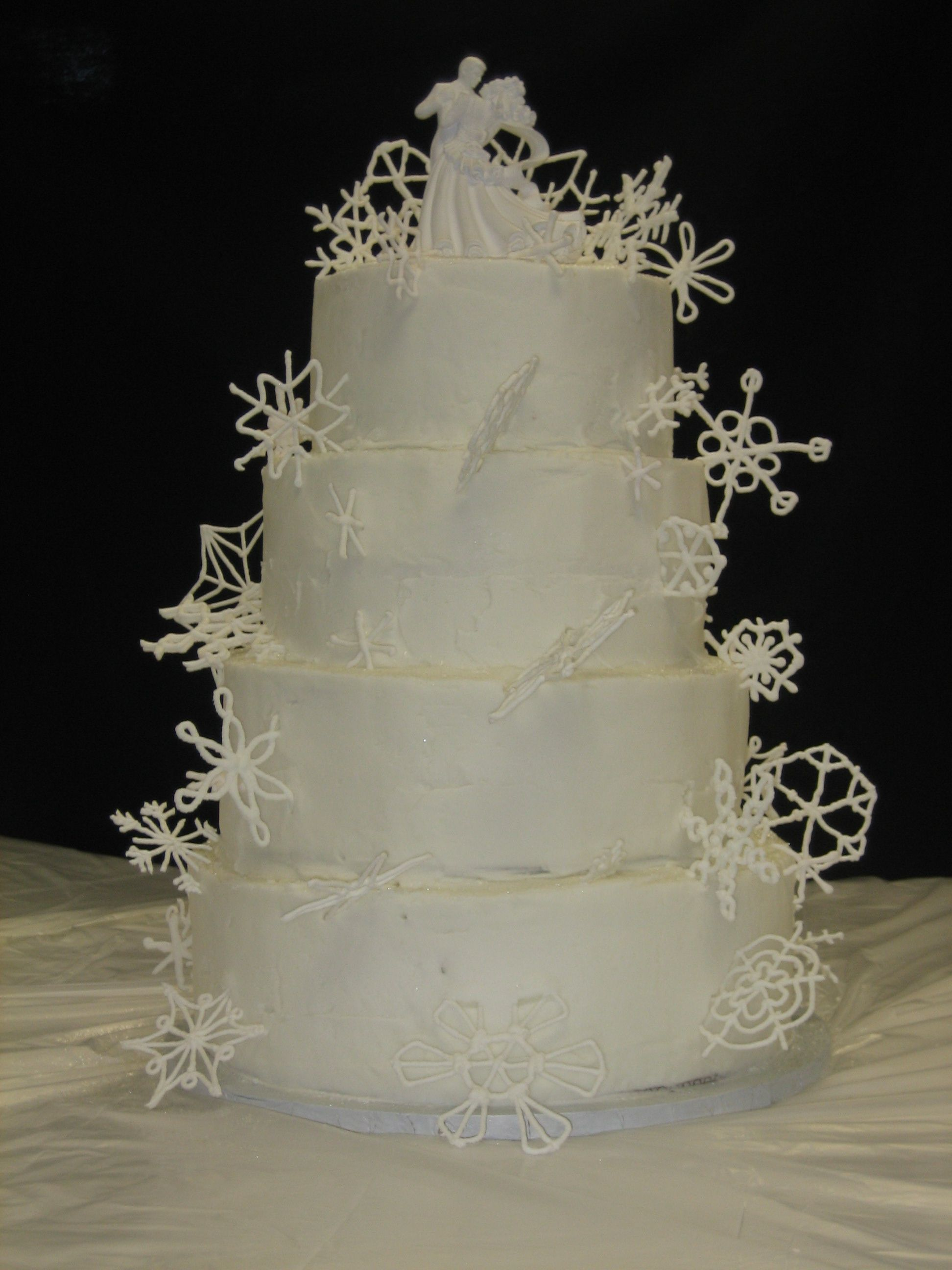 A winter themed wedding cake winter theme wedding pinterest