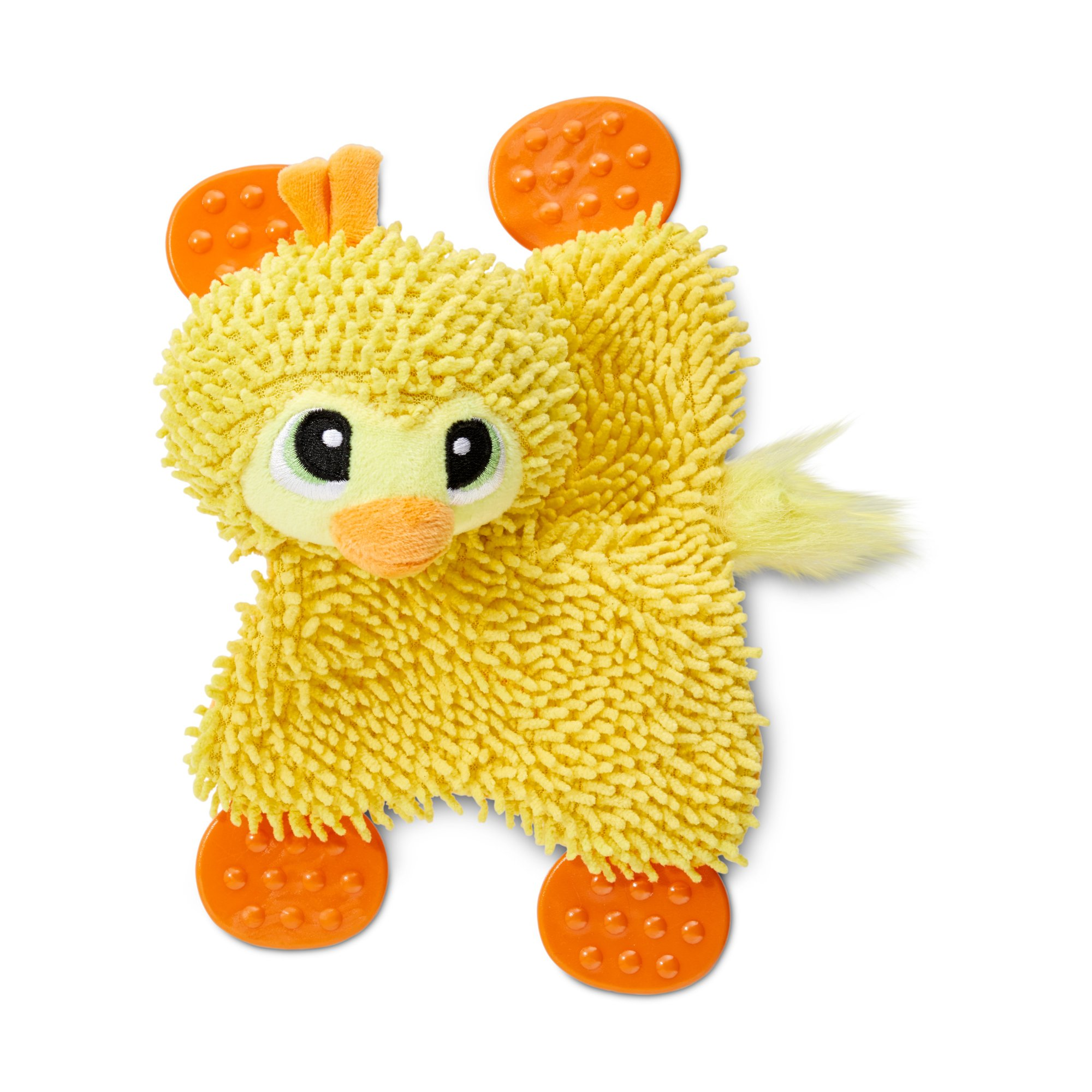 Leaps Bounds Duck Crinkle Dog Toy With Paddle Feet Small Dog