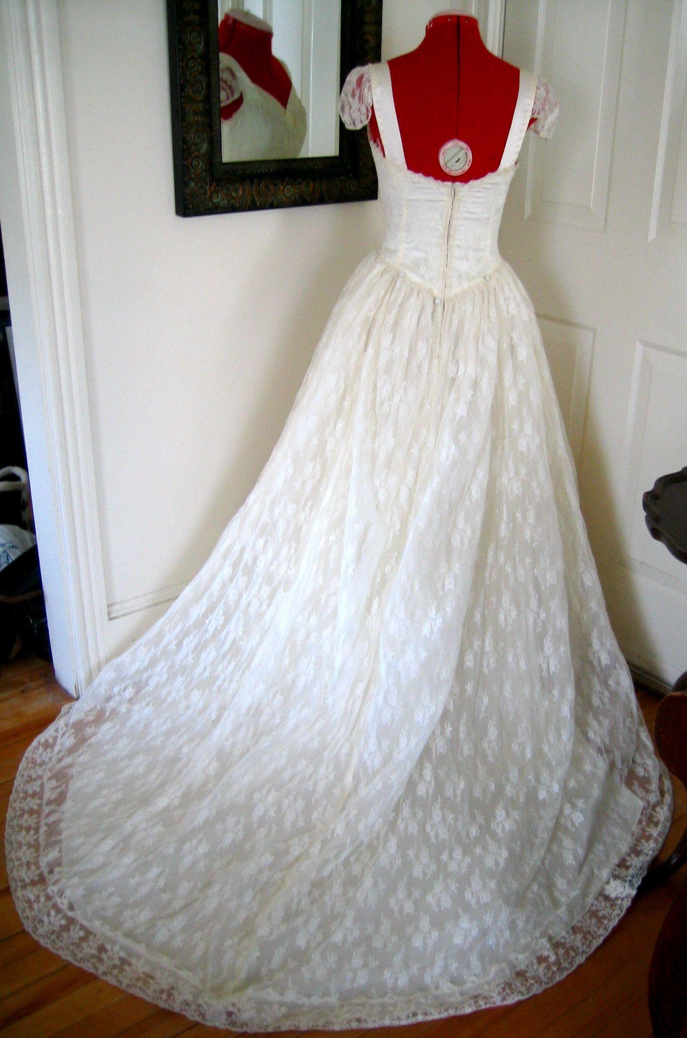 Marie vintage wedding dress upcycled wedding dress us style