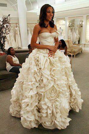 Pnina Tornai Flower Ball Gown Dress