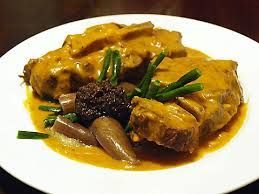 Kare-Kare: Oxtail (yes oxtail) and vegetable stew in a peanut butter sauce.