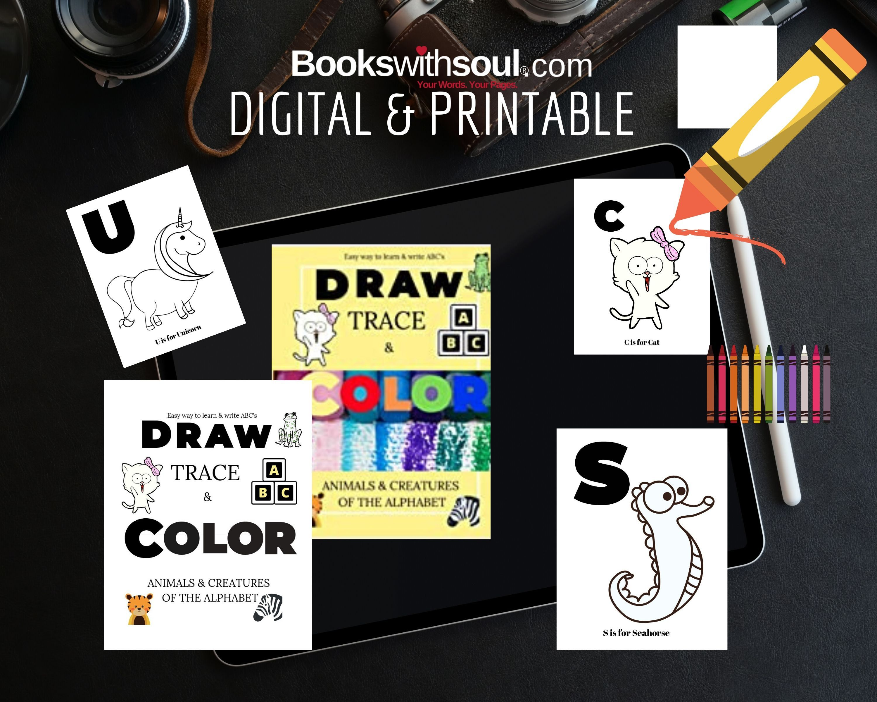 Printable Alphabet Coloring Pages Or Insert This Into Etsy Alphabet Coloring Pages Alphabet Coloring Coloring For Kids