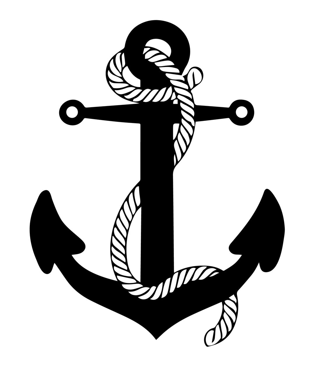 Free Anchor With Rope Svg Cut Files