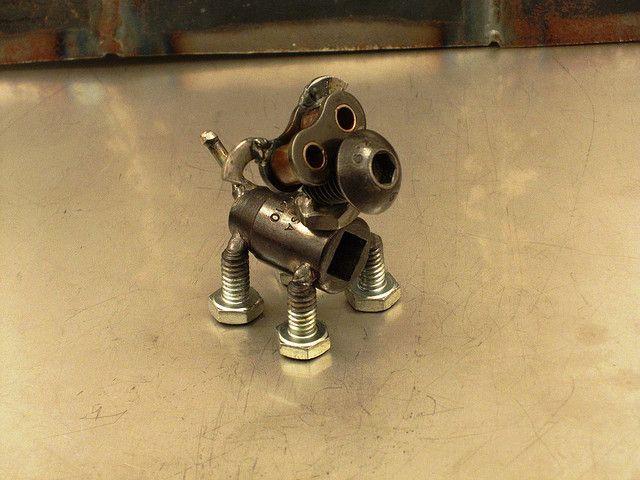 Cornhash The Metal Dog Sculpture By Brown Dog Welding Via Flickr Metal Sculpture Dog Sculpture Metal Welding