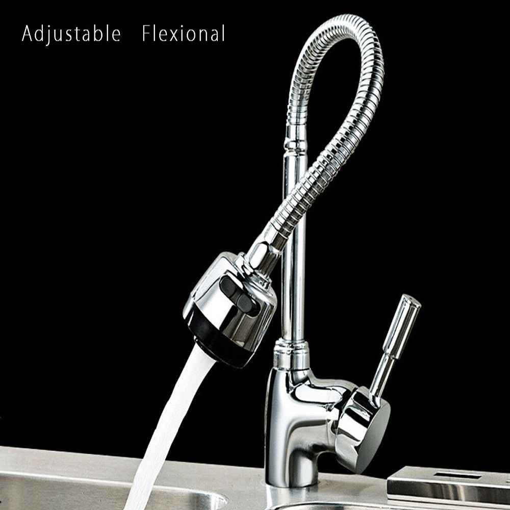New Kitchen Mixer Cold Hot Water Kitchen Tap Single Hole Water Tap ...