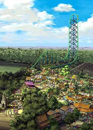 New Jersey Six Flags Great Adventure Thrill Ride New Jersey Beaches
