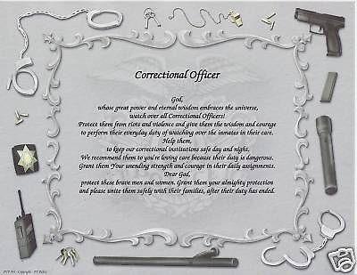 CORRECTIONAL OFFICER Poem Personalized Name Print Prayer Pinterest