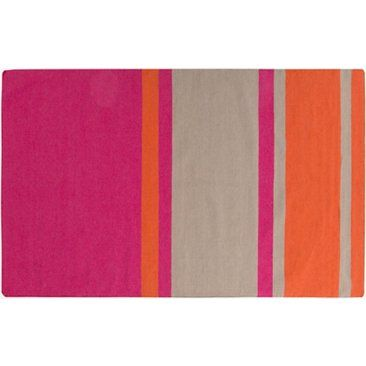 Check out this item at One Kings Lane! Lyssa Flat-Weave Rug, Pink