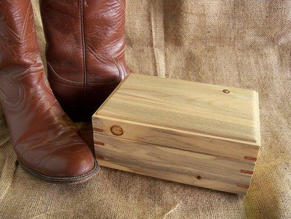 Handmade Wooden Jewelry Box Rustic Jewelry by CowboyCountryArt