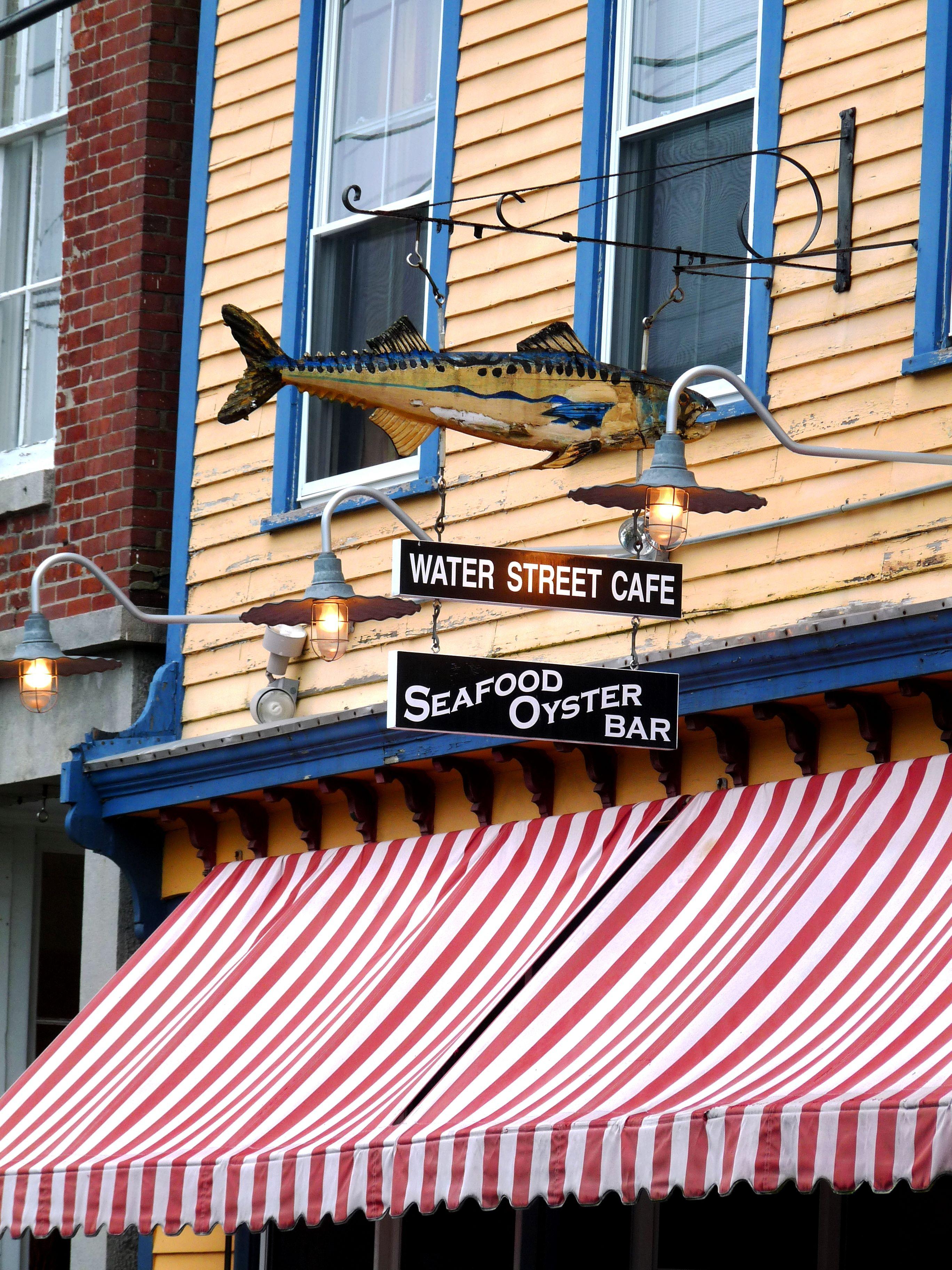 Waterstreet Cafe, Stonington Connecticut.....♔.... New