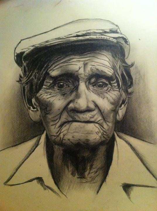 old mans face drawing - photo #18