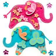 Stitched Elephant Stickers by Jolee's