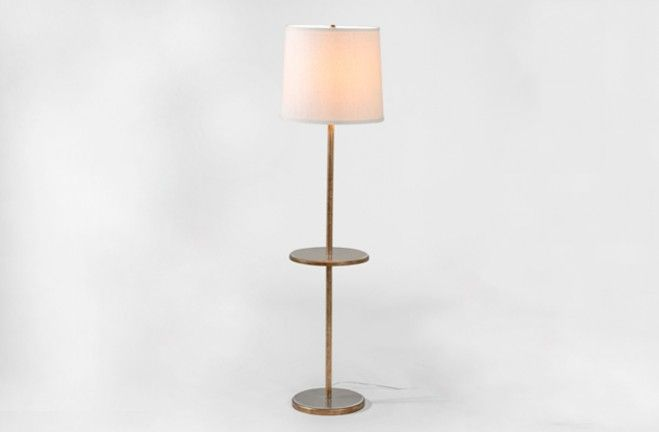Floor Lamp With Table Attached Morton By Gabby Lamp Floor Lamp Gold Floor Lamp