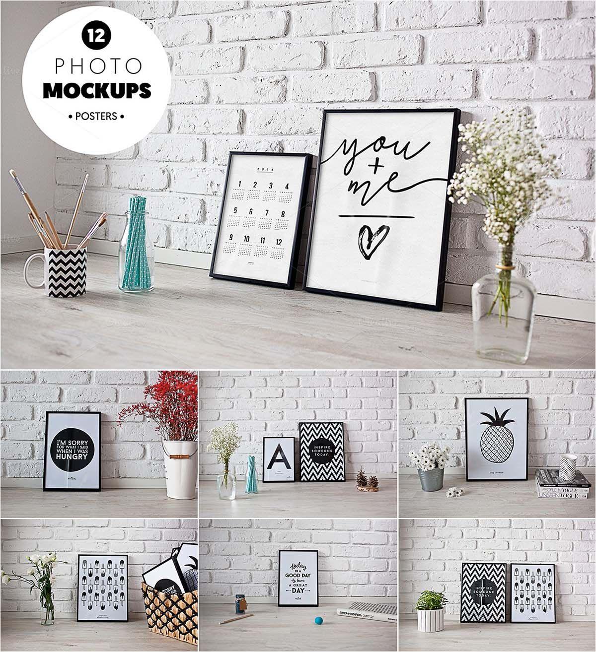 Frames poster photo mockup set FREE Mockups in PSD JPG ...
