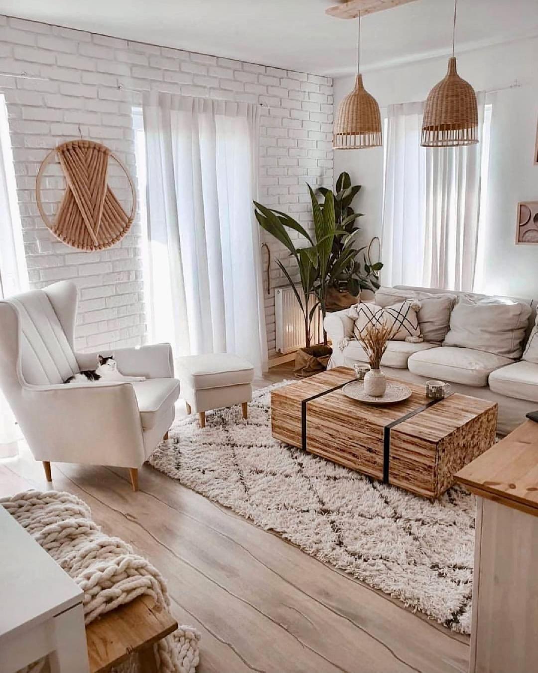 un salón nórdico con detalles marroquíes - Welcome to Blog