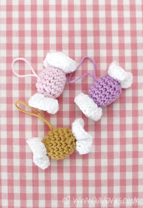 Crochet Candy/Sweets Decorations - Pattern on blog x | Crafts ...