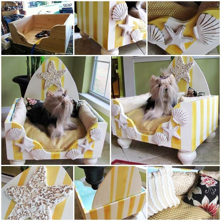 DIY Hand Painted Luxury Dog Bed