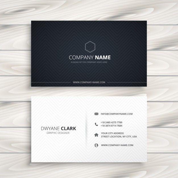 simple business card black and white Free Vector   Cartões de ...