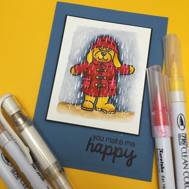 Sunny Studio Stamps Rain or Shine Card by Sandy Allnock