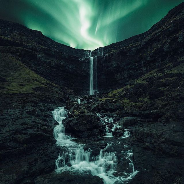 Wonders Of The Nordic Nights Faroeislands Auroraborealis Northernlights Nightphotography Night Excl Visitfaroeisland Beautiful Nature Landscape Scenery