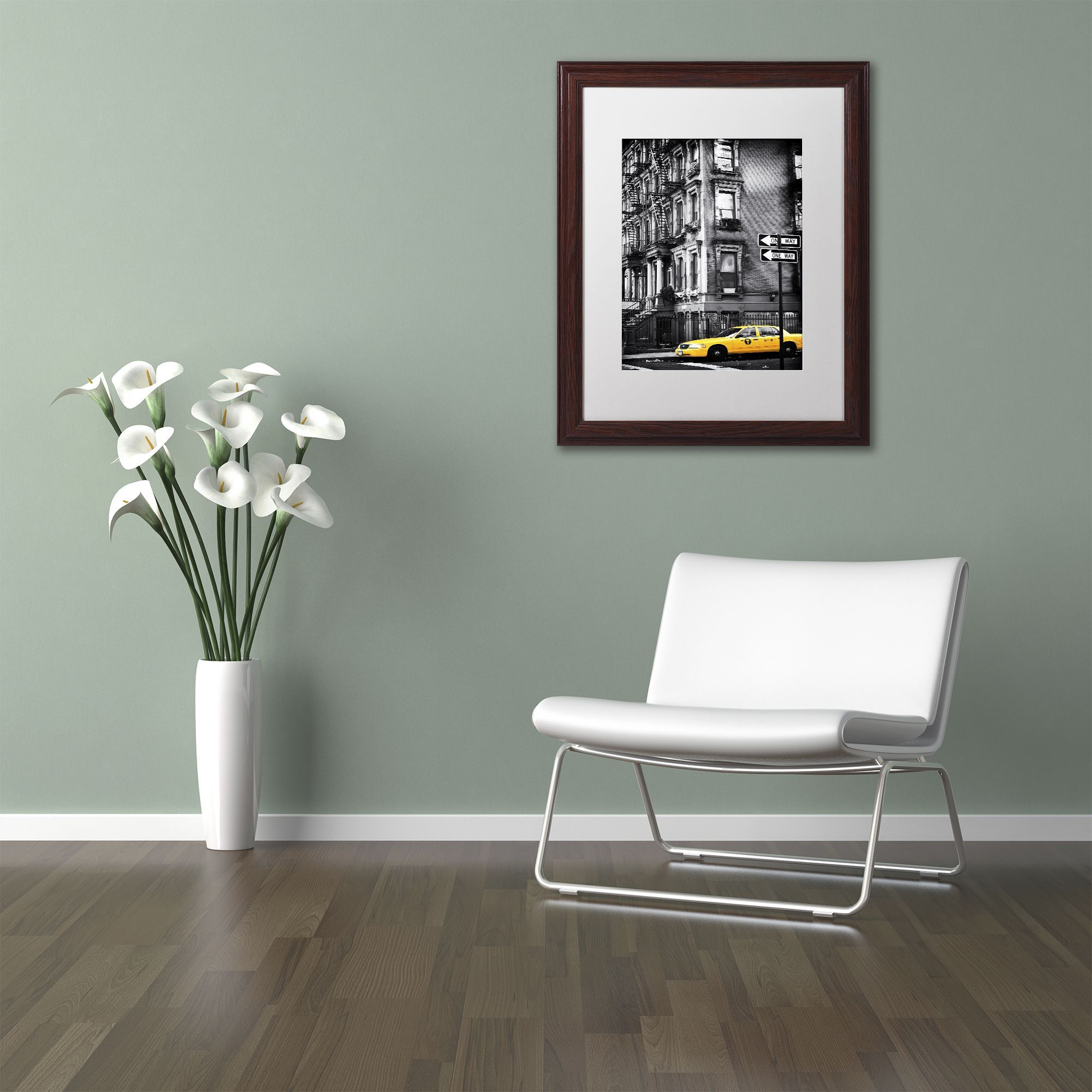 Philippe Hugonnard 'nyc Cab' Matted Framed Art