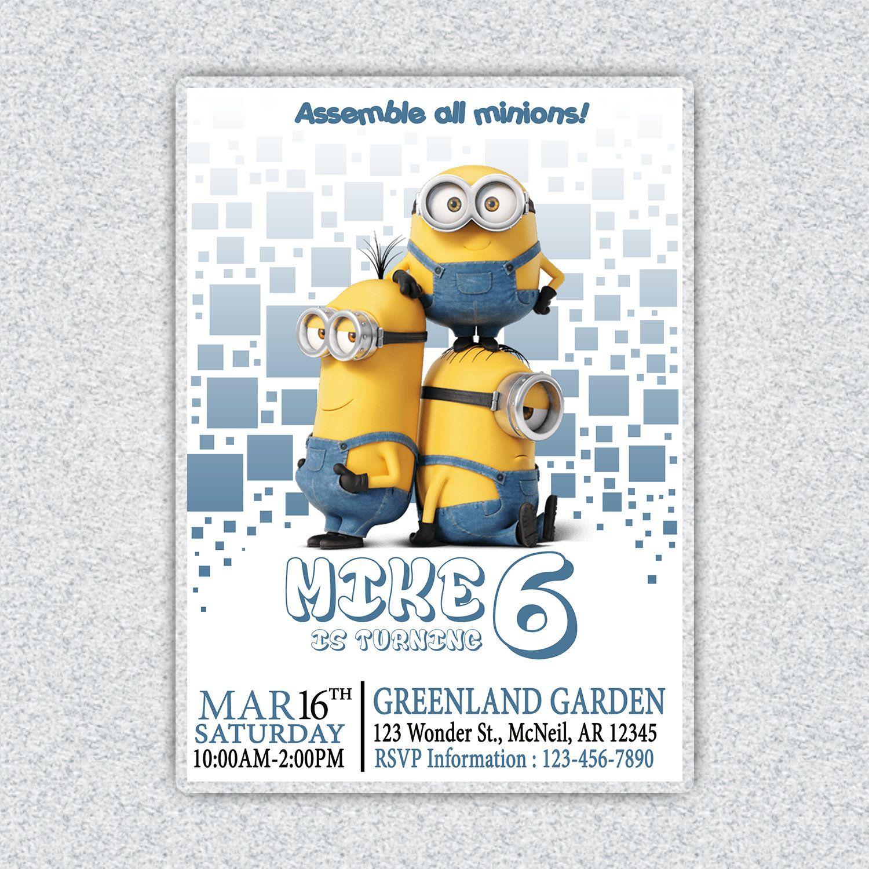 picture regarding Minions Birthday Card Printable known as Aladdin Invitation, Aladdin Birthday Invitation, Aladdin