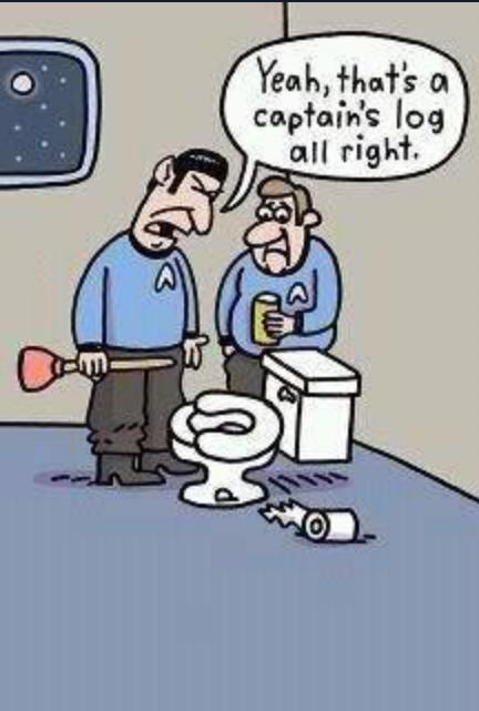 Funny Star Trek Cartoon  Haha  Bathroom Humor, Star Trek -7831