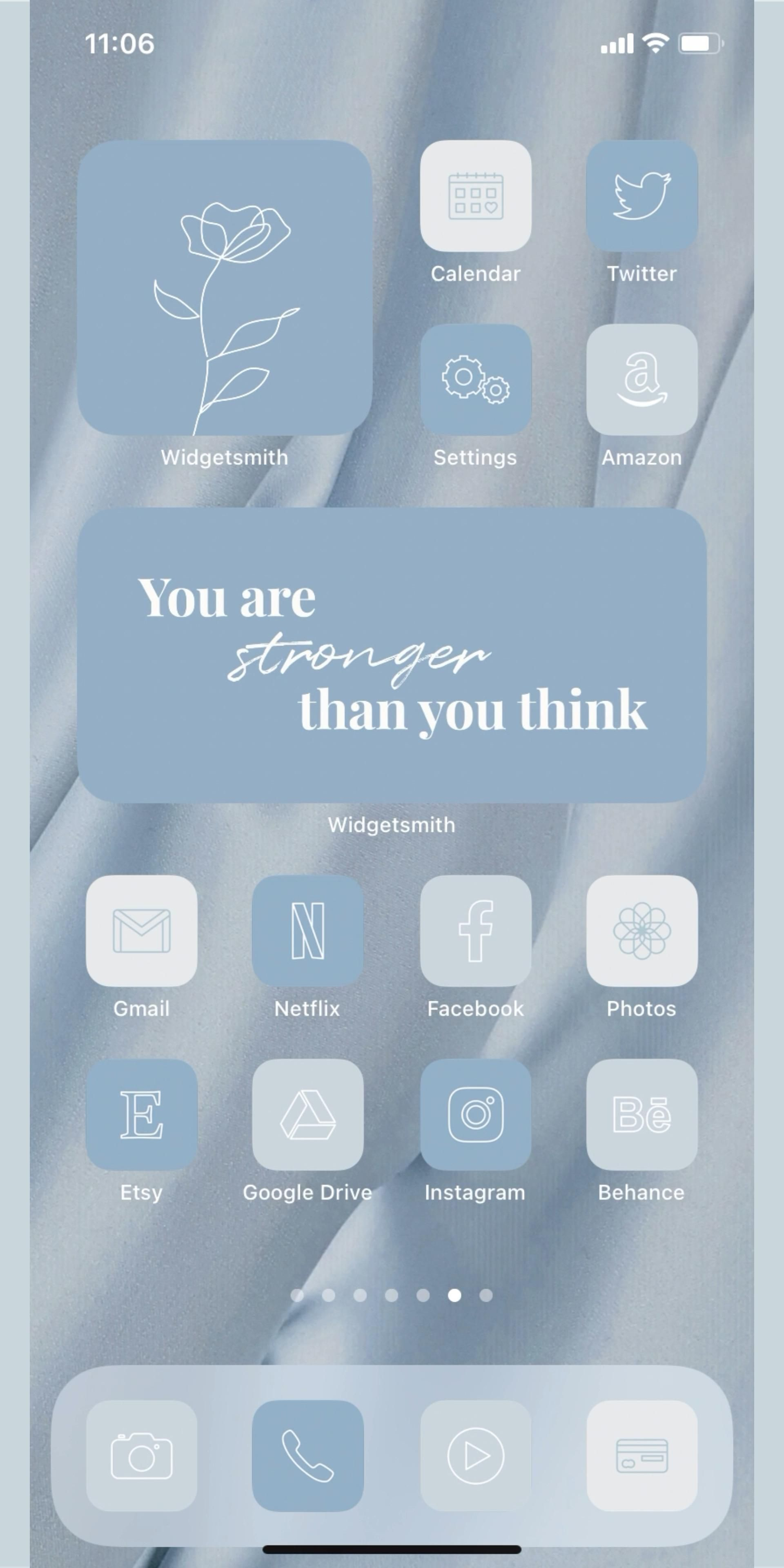 Pastel Blue iOS 14 Icons iPhone home screen ideas