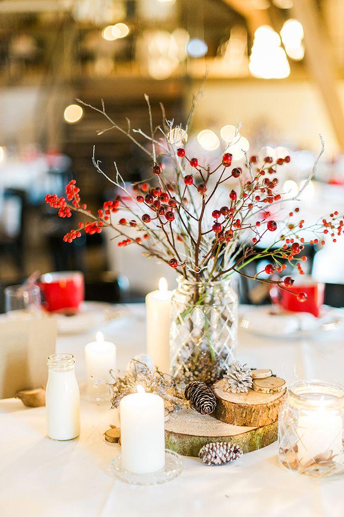 Tidchdeko dekoration zu weihnachten hochzeitsdeko - Winterliche dekoration ...