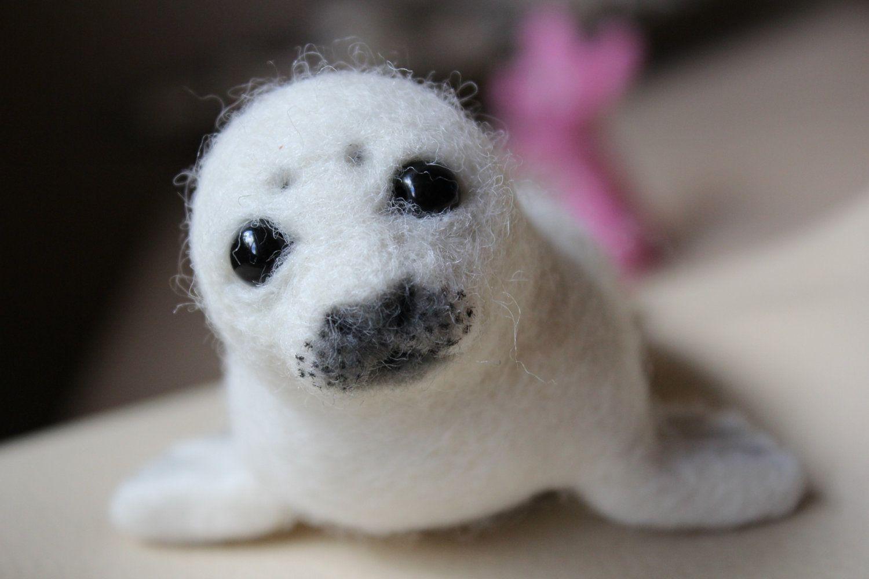 Popular items for baby seal on Etsy Felt animals, Felt