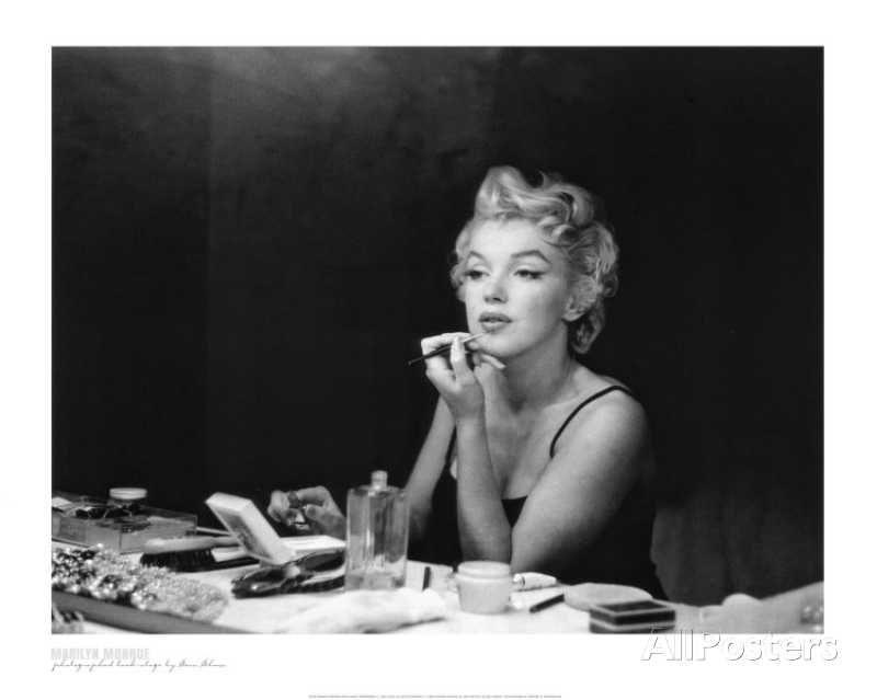 Marilyn Monroe, Back Stage Affiche par Sam Shaw sur AllPosters.fr