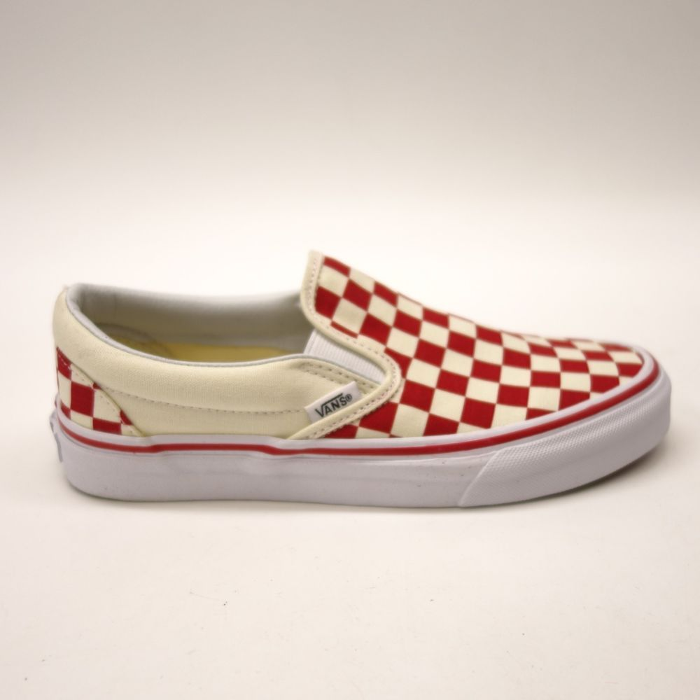 92935f886ef New Vans Womens Red Checkerboard Classic Slip On Canvas Shoes Left 7.5  Right 7  VANS  SlipOn