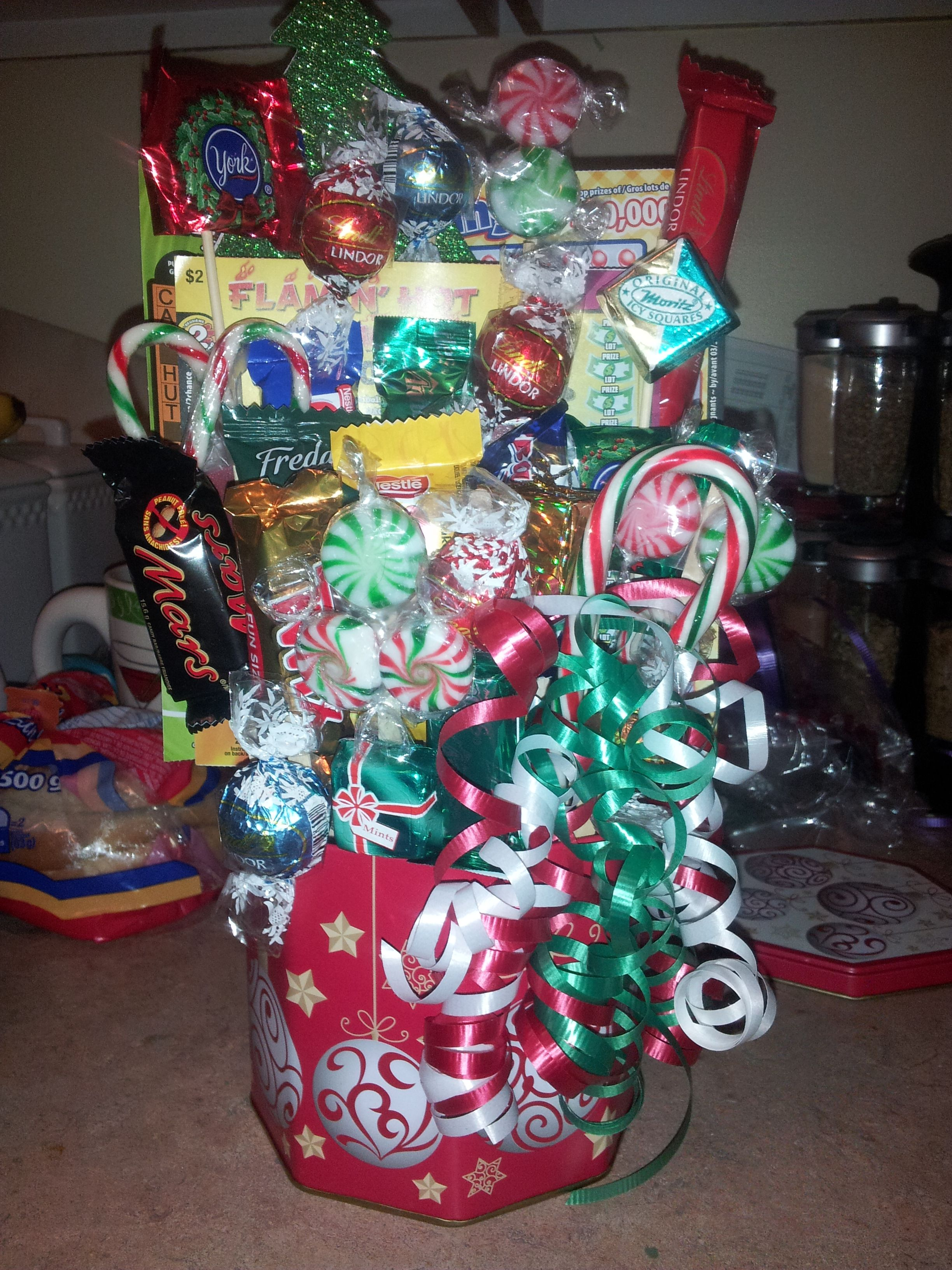 Candy And Lottery Ticket Bouquet