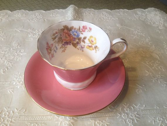 Vintage Aynsley cup and saucer by VintageSowles on Etsy