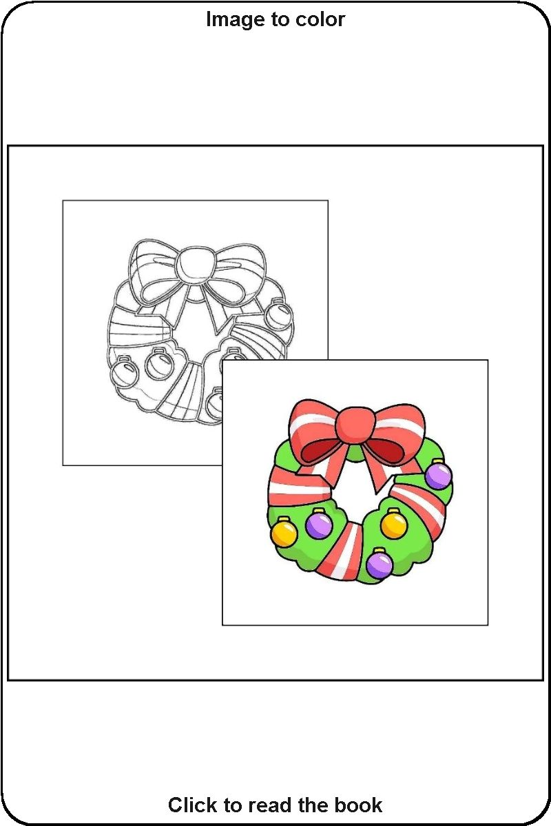 012 Sample Picture From The Book Coloring Book Of Christmas Christmas Coloring Books Toddler Coloring Book Coloring Books