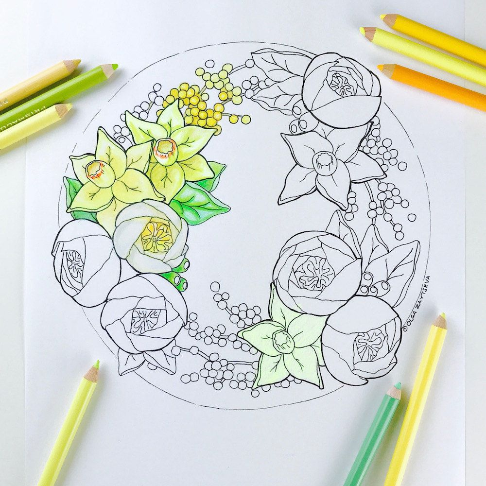 coloring page daffodil flower coloring pages for