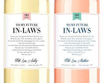Wedding Milestone Wine Labels