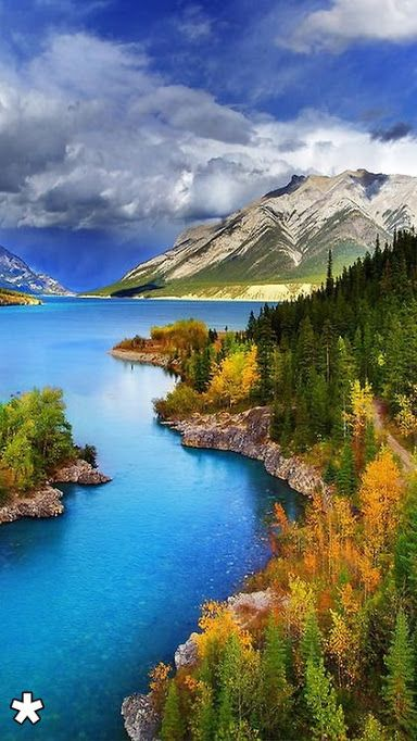 Kostas Kastrinakis Originally Shared Abraham Lake North Saskatchewan River Beautiful Landscapes Beautiful Nature Nature