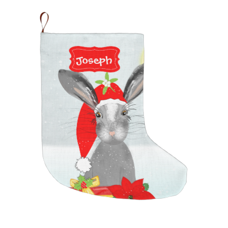 this festive design is co sweet with a cute bunny rabbit with his red santa hat