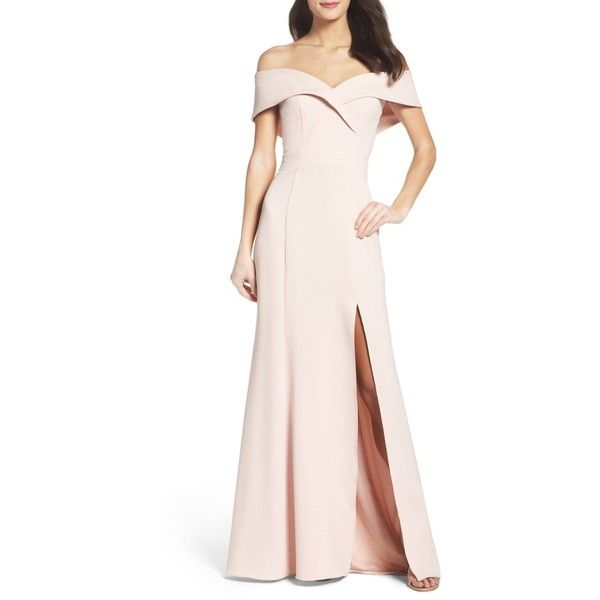 Women\'s Xscape Portrait Collar Gown ($248) ❤ liked on Polyvore ...