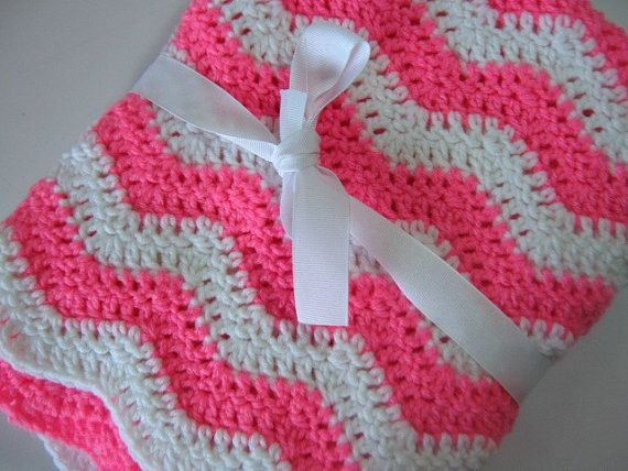 Easy Ripple Baby Blanket Crochet Pdf Pattern Instant Download