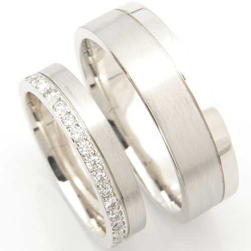 Platinum Matching Pair Of Wedding Rings Form Bespoke Jewellers Leeds