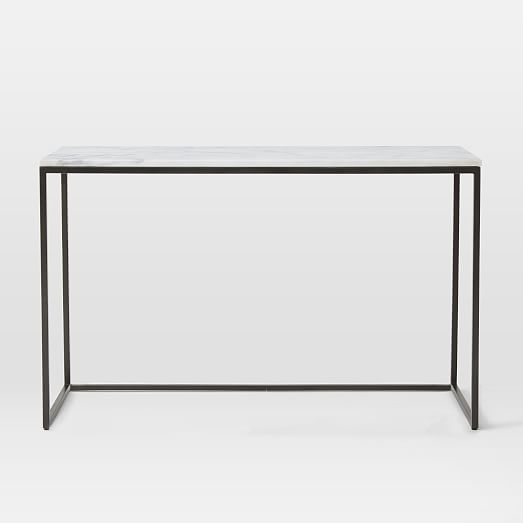 Box Frame Console Marble Antique Bronze Box Frames Dining Room Simple Marble Side Tables