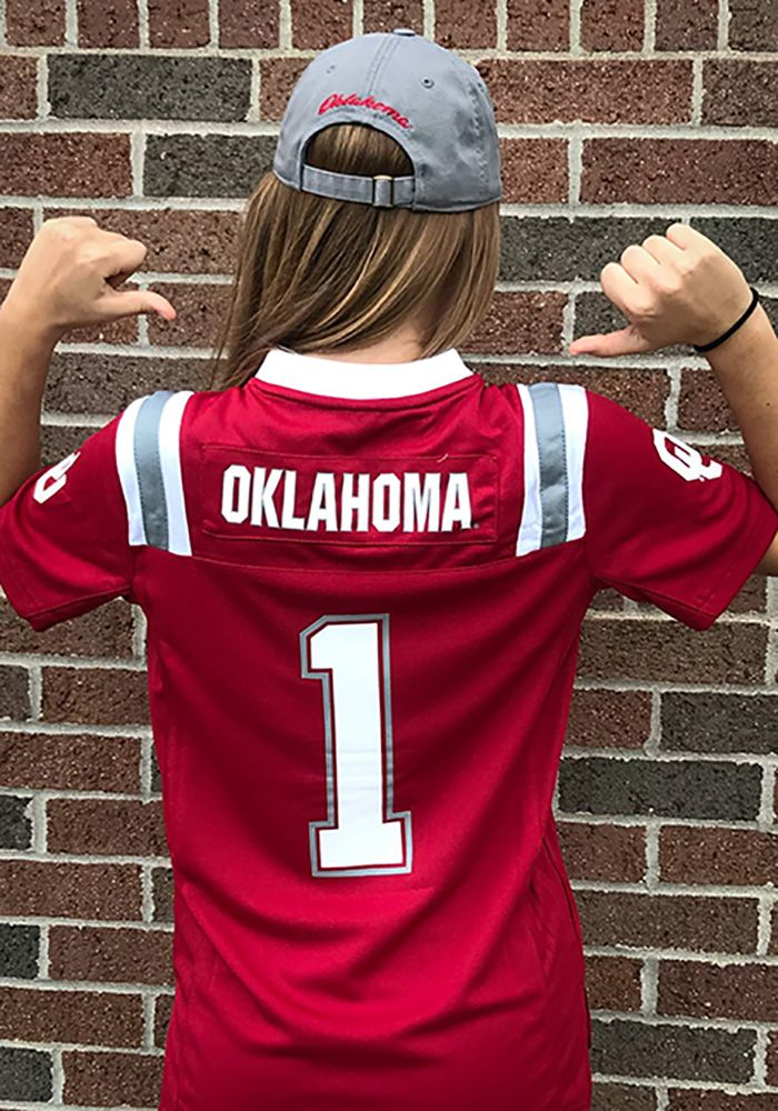 cheaper 877cb 84c1e Colosseum Oklahoma Sooners Youth Crimson Foos-Ball Football ...