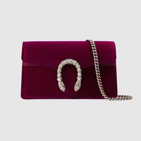 062687c9977e GUCCI Dionysus Velvet Super Mini Bag.  gucci  bags  crystal  stone  velvet