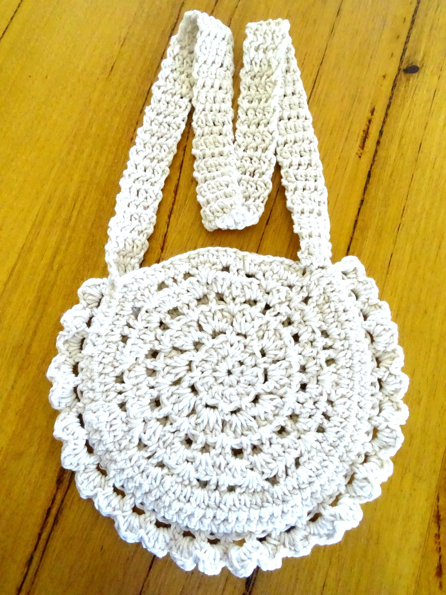 Crochet Boho Bag | Cotton Beach Bag | Festival Tote Bag | Handmade ...